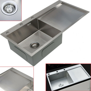 large stainless steel kitchen sinks for