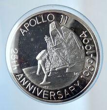 1993 TURKS CAICOS Apollo 11 Moon Landing NASA Proof Silver 20 Crowns Coin i74259
