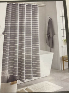 striped nautical shower curtains for
