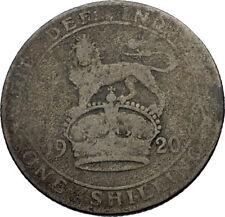 1920 Great Britain UK United Kingdom SILVER SHILLING Coin King George V i71953