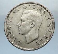1945 United Kingdom Great Britain GEORGE VI Silver Florin 2Shillings Coin i66837