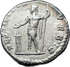 SEPTIMIUS SEVERUS sacrificing over altar 200AD Ancient Silver Roman Coin i73576