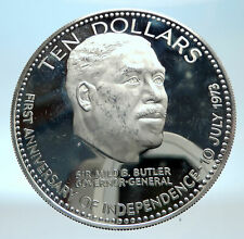 1974 BAHAMAS Large Independence Milo Butler Genuine Proof Silver $10 Coin i77493