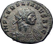 AURELIAN 272AD  Authentic Silvered  Ancient Roman Coin JUPITER w globe  i73392
