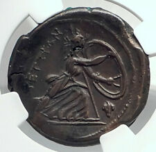BRETTII in BRUTTIUM Authentic Ancient 211BC Greek Coin ARES HERA NGC i77353