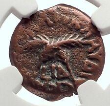 CLAUDIUS & AGRIPPINA Jr Ancient Roman Jerusalem ANTONIUS FELIX Coin NGC i70647