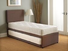 3ft Single Guest Bed 3 In 1 With Mattress Pullout Trundle Set