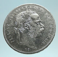 1879 HUNGARY w King Franz Joseph I Hungarian Antique Silver Forint Coin i76206