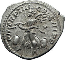 ELAGABALUS 220AD Rome Authentic Genuine Ancient Silver Roman Coin VICTORY i70284