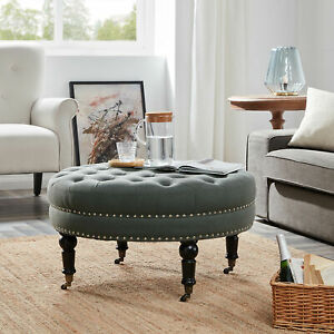 round ottoman for sale in stock ebay