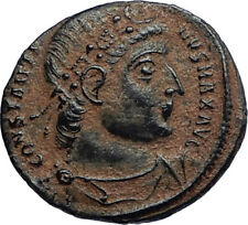 CONSTANTINE I the GREAT 330AD Authentic Ancient Roman Coin w SOLDIERS i67114