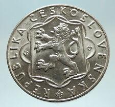 1954 CZECHOSLOVAKIA Martin Benka ART Genuine Silver 100 Korun Coin i76786