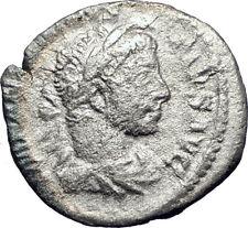 ELAGABALUS Sacrificing over altar  221AD Rome Silver Ancient Roman Coin  i73382