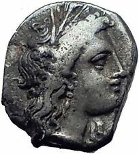 METAPONTION in LUCANIA 330BC Demeter Barley Ancient Silver Greek Coin i63358