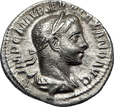 SEVERUS ALEXANDER 226AD Rome Authentic  Ancient Silver Roman Coin Altar i67037