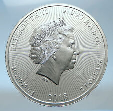 2018 AUSTRALIA Elizabeth II KOALAS Antique Silver 2.2 OZ $2 Bullion Coin i73863