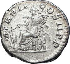ELAGABALUS 219AD Rome Silver Authentic Ancient Roman Coin Fortuna  73550