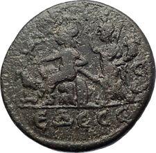 CARACALLA 198AD Edessa in Macedonia Fortuna Luck NIKE Ancient Roman Coin  i73438