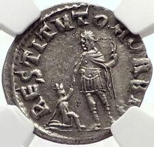 VALERIAN I Authentic Ancient Silver Roman 256AD RESTITVTOR ORBIS Coin NGC i70143