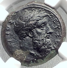 SYRACUSE in SICILY Timoleon 343BC Ancient Greek Coin ZEUS & EAGLE NGC i68716