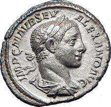 SEVERUS ALEXANDER 222AD Rome Ancient Silver Roman Coin Fides Trust i73545