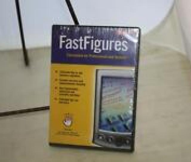 New Sealed Fastfigures Mysofware Calculations For Professionals Students