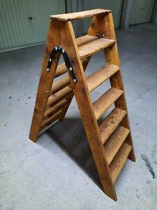 echelle bois ancienne ebay