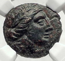 LARISSA Thessaly Ancient THESSALIAN LEAGUE Greek Coin APOLLO ATHENA NGC i72735