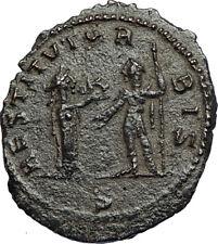 AURELIAN Authentic Ancient Genuine 272AD Mediolanum Roman Coin w WOMAN i67657