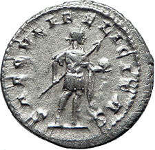 GORDIAN III with globe 242AD Rome Authentic Ancient Silver Roman Coin i70185