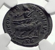 LICINIUS I BI Argenteus 313AD Roman Coin w JUPITER Riding on EAGLE NGC i72106