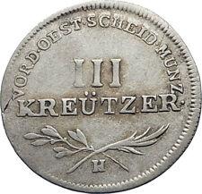 1797 FURTHER AUSTRIA 3 III Kreuzer Silver w SHIELDS Austrian Vintage Coin i71792