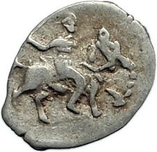 1533 IVAN IV Terrible Grand Duke Moscow HORSE Antique Silver Denga Coin i74720