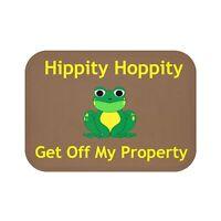 Hippity Hoppity Get Off My Property Mat Welcome Mat House Warmin Ebay