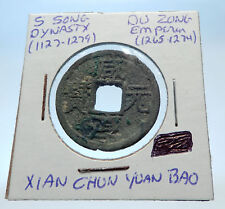 1265AD CHINESE Southern Song Dynasty Genuine DU ZONG Cash Coin of CHINA i72591