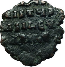 JESUS CHRIST Class A1 Anonymous Ancient 969AD Byzantine Follis Coin i66447