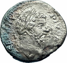 SEPTIMIUS SEVERUS sacrificing 202AD Authentic Silver Ancient Roman Coin i77303