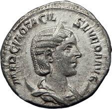 OTACILIA SEVERA wife of Philip I 248AD Silver Ancient Roman Coin Pietas i70279