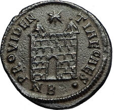 CONSTANTIUS II Authentic Ancient 326AD Roman Military Camp Gate Coin i67652