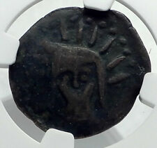 MALACA in SPAIN 225BC Authentic Ancient Greek Coin HEPHAESTUS HELIOS NGC i77371