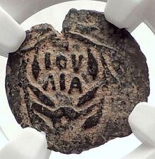 VALERIUS GRATUS Roman Jerusalem Prefect TIBERIUS LIVIA Biblical Coin NGC i70893