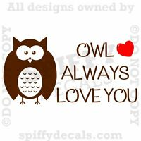 Download OWL ALWAYS LOVE YOU Vinyl Wall Decal Lettering Nursery ...