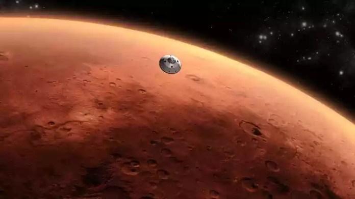Sonda a caminho de Marte, planeta onde estaria a base da Federação Galática(foto: Nasa/Divulgação)