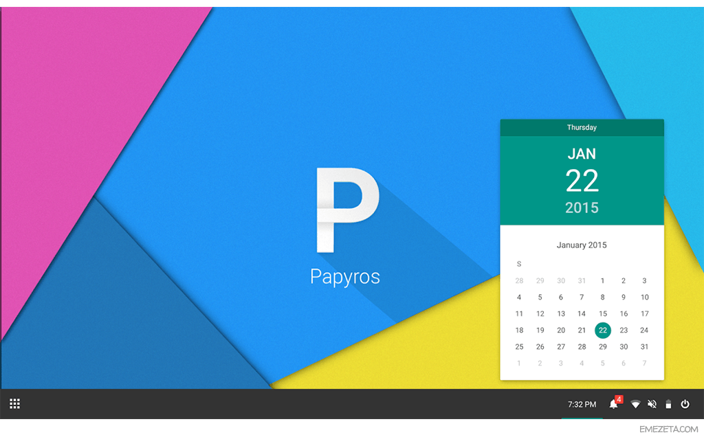 PapyrOS: GNU/Linux que implementa Material Design