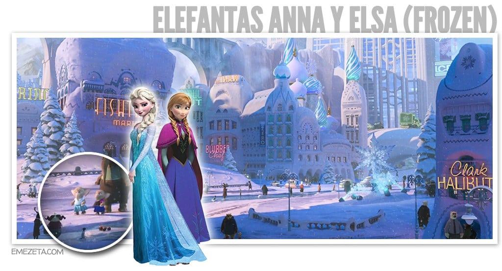 Elefantas Anna y Elsa (Frozen)