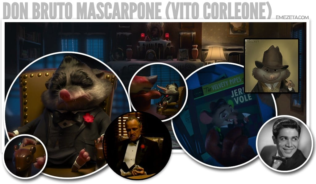Don Bruto Mascarpone (Vito Corleone, El Padrino)