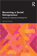 Becoming a Social Entrepreneur Book Cover in Black and Orange