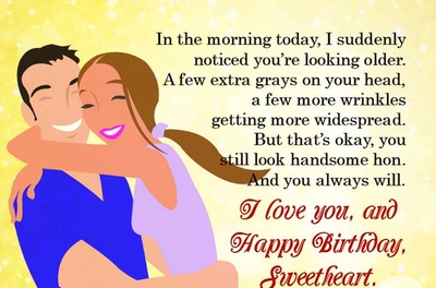 29 Funny And Sweet Birthday Quotes For Your Husband Enkiquotes
