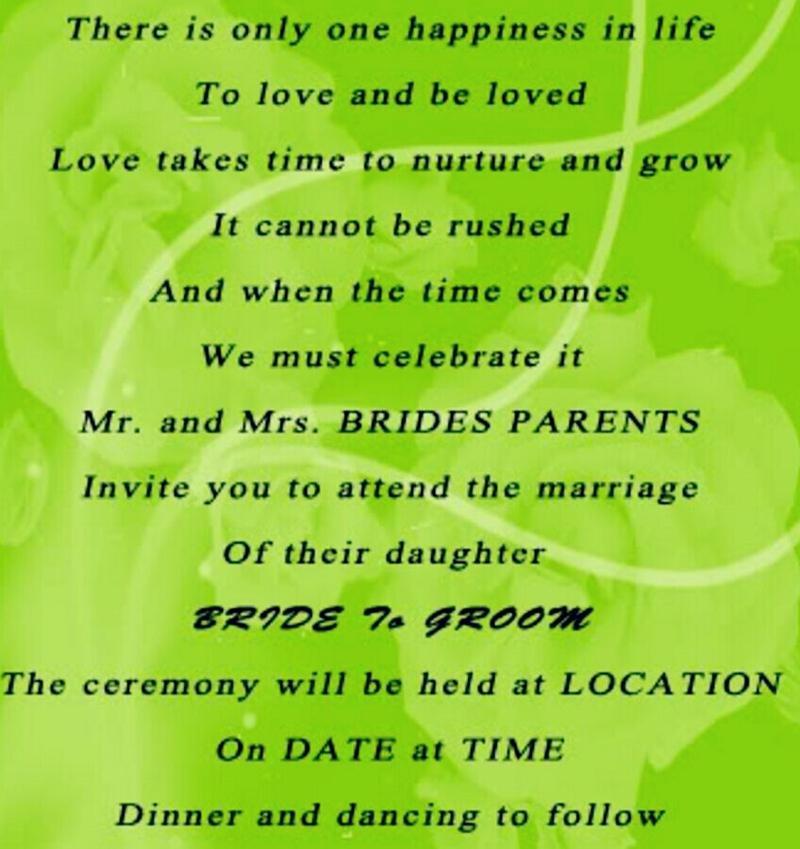 Romantic Love Quotes For Wedding Invitations | Invitationjpg.com