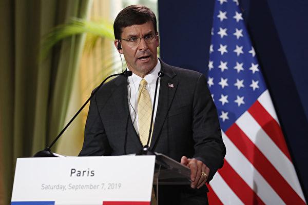 美防長訪巴黎 敦促中共不要強行干預香港